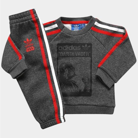 975ea99b1 Agasalho Adidas 1 Star Wars DV TS Infantil - Chumbo+Vermelho