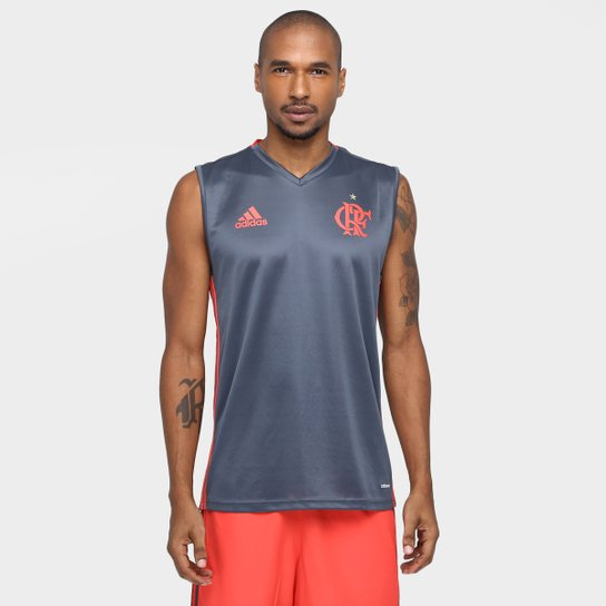 7a023bb99 Camiseta Regata Flamengo Adidas Treino Masculina - Compre Agora ...