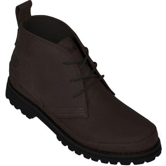 858ad71ff Bota Timberland EK Leather Chukka - Marrom Escuro+Preto