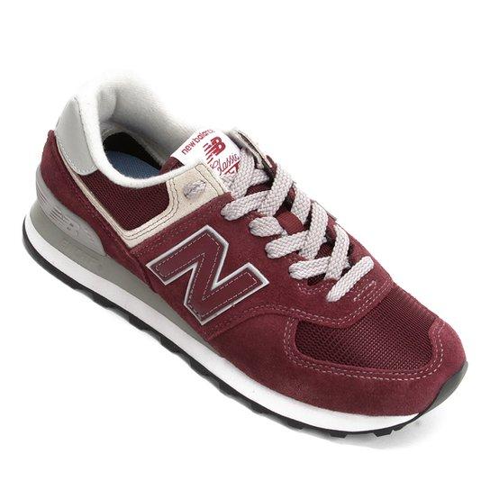 c134eb868 Tênis New Balance 574 Feminino - Vinho e Branco - Compre Agora ...