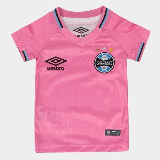 7584e8ae25c47 Camisa Grêmio Infantil Outubro Rosa 2018 Umbro - Rosa e Preto ...