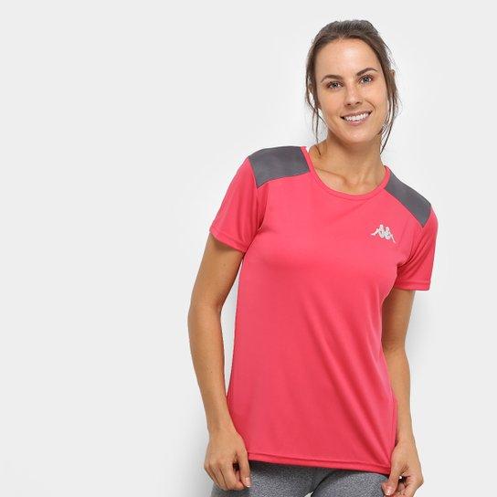 Camiseta Kappa Fluid Feminino - Rosa e Cinza - Compre Agora  66743c12127da
