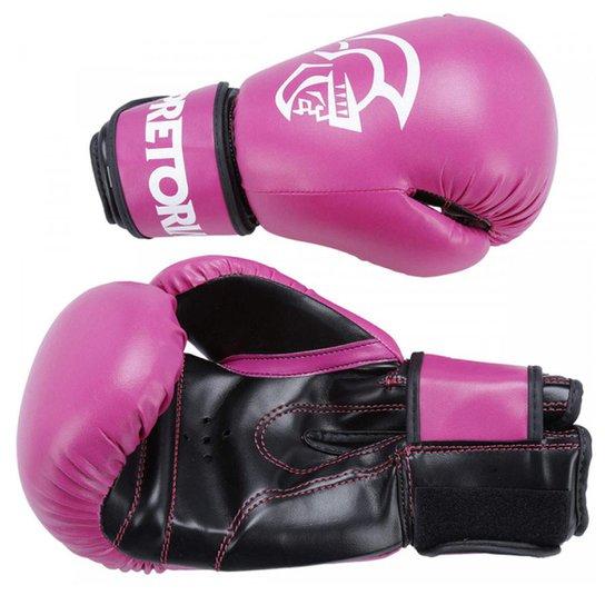 ae770e689 Luva De Boxe Muay Thai Pretorian First 10 Oz - Rosa e Preto - Compre ...