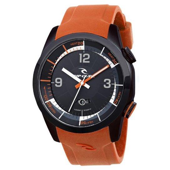 cac6bbed158 Relógio De Pulso Ripcurl Launch Heat Timer - Aço - Prata e Laranja ...