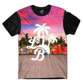 Camiseta Long Beach Urso Praia Sublimada Masculina - Azul - Compre ... 77aec296184