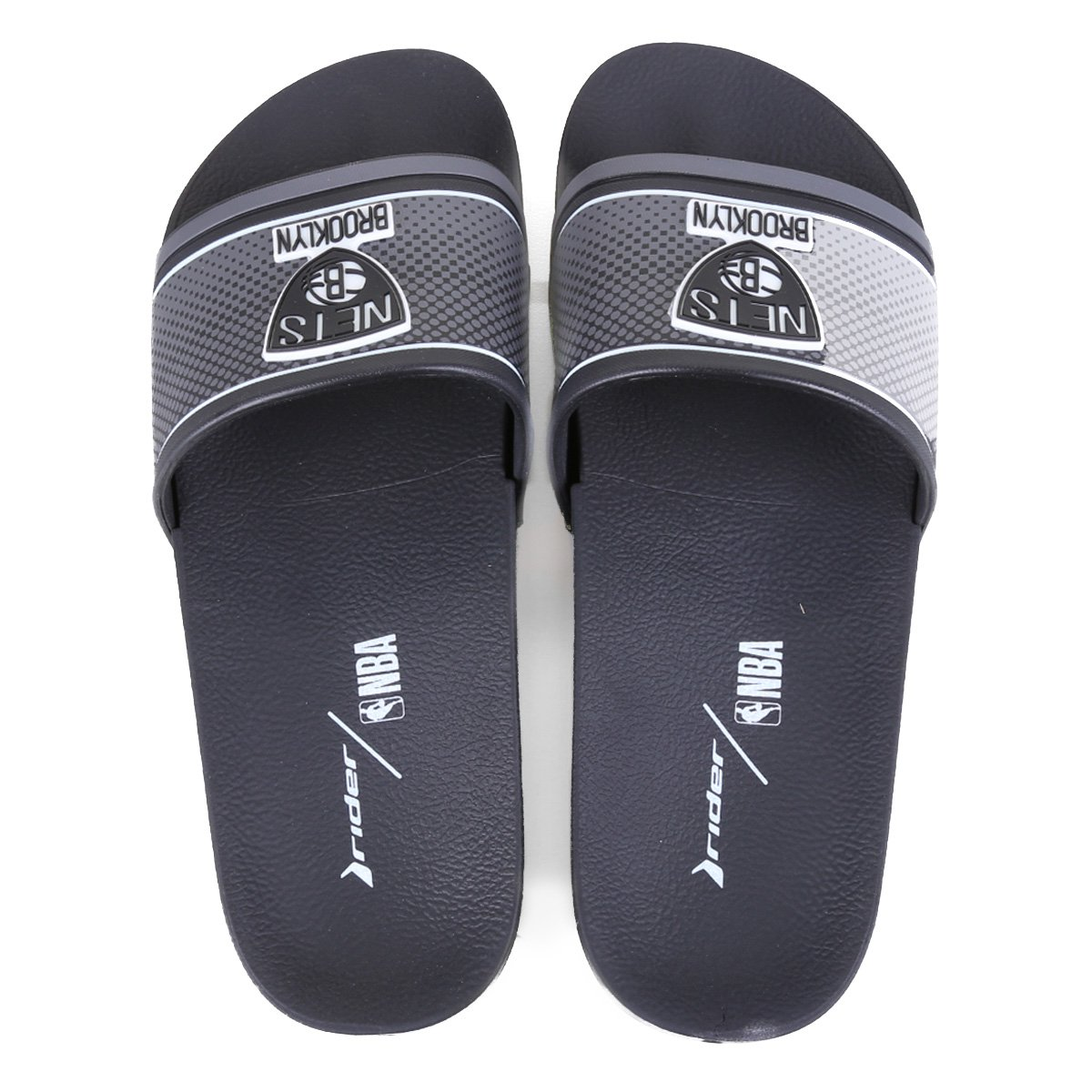 Chinelo Slide NBA Brooklyn Nets Rider Full 86 Masculino