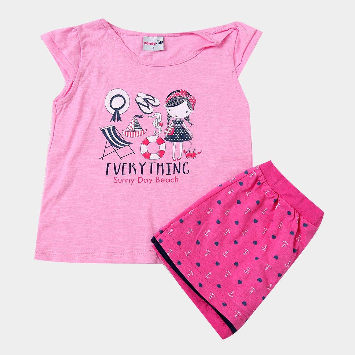Foto 1 - Conjunto Infantil Candy Kids Everything Feminino