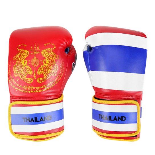 d3a5cf339 Luva de Boxe   Muay Thai Naja Tailândia 10 Oz - Vermelho+Azul