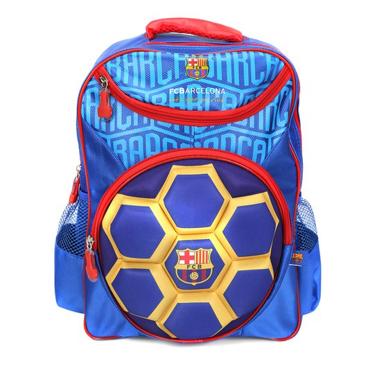 Mochila Barcelona Infantil Bola 3D - Compre Agora  51dff7b28139e