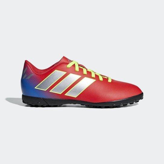 ac7862256f Chuteira Society Infantil Adidas Nemeziz Messi 18 4 TF - Vermelho e ...