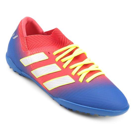 0cadd77dd3 Chuteira Society Infantil Adidas Nemeziz Messi 18 3 TF - Vermelho e ...
