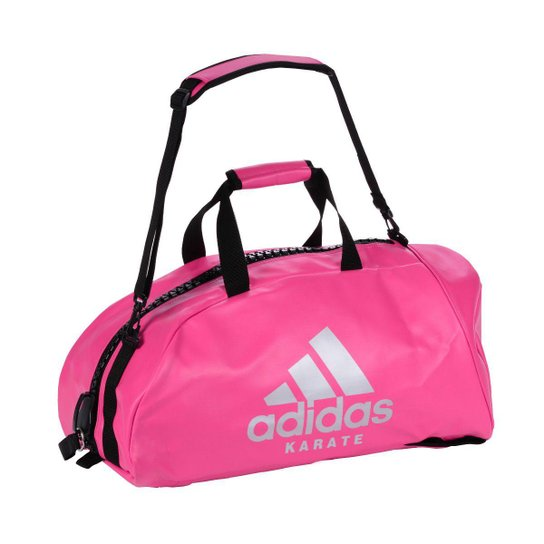 5aba3ab3e Bolsa Mochila Adidas Karate 2in1 Champion 50L - Rosa e prata | Netshoes