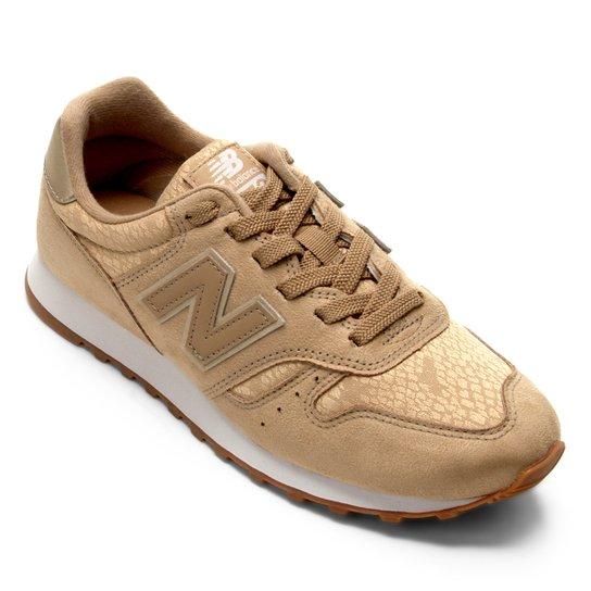 2afc537ffea Tênis New Balance W 373 Feminino - Bege e Branco - Compre Agora ...