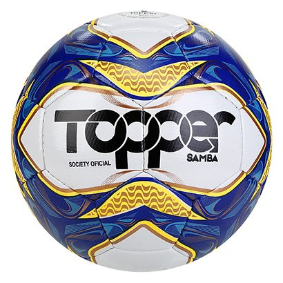 Bola de Futebol Society Topper Samba Costurada