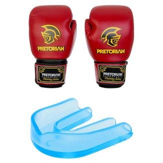 ad804556d Kit Pretorian Luva de Boxe Muay Thai 16 oz + Protetor Bucal c  Estojo