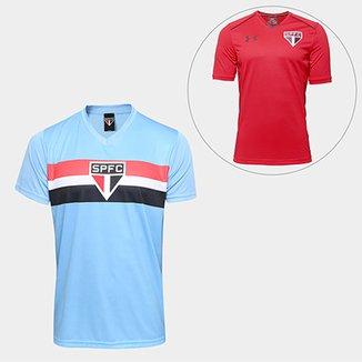 42f7485f95e8d Kit São Paulo Camisa Celeste + Camisa de Treino 17 18 Under Armour Masculino