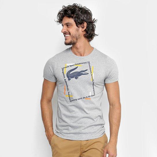 Camiseta Lacoste Casual Masculina - Cinza e Marinho - Compre Agora ... 1a0d57be6baf3