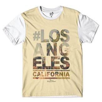 Camiseta Long Beach Coleção Praias Los Angeles California San Diego Sublimada  Masculina 98ac100425c9c