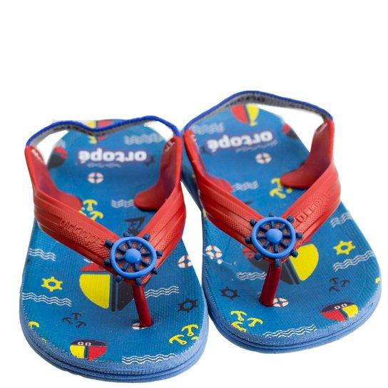 6a0f1790112b8 Chinelo Infantil Masculino Ortopé Aqua Flex PVC 2107124 - Vermelho e ...