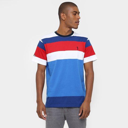 Camiseta Aleatory Gola Careca Fio Tinto Listras - Compre Agora ... ead84d62d637a