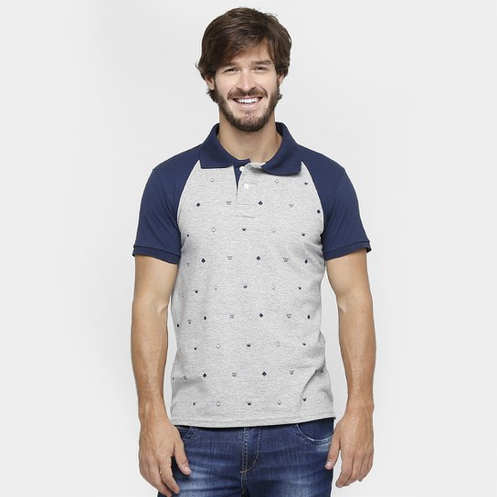 Camisa Polo Local Piquet Raglan Mini Print - Compre Agora  b93240e43cc21