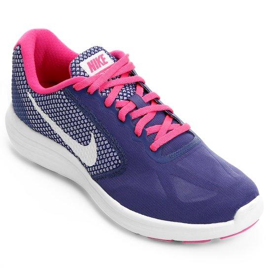 fe593a401c Tênis Nike Revolution 3 Feminino - Roxo e Rosa - Compre Agora