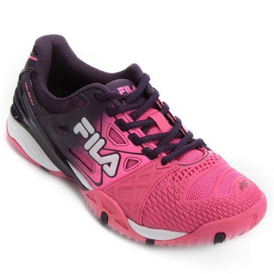 903c8d25a Tênis Fila Cage Delirium Indoor 4 - Roxo e Rosa | Netshoes