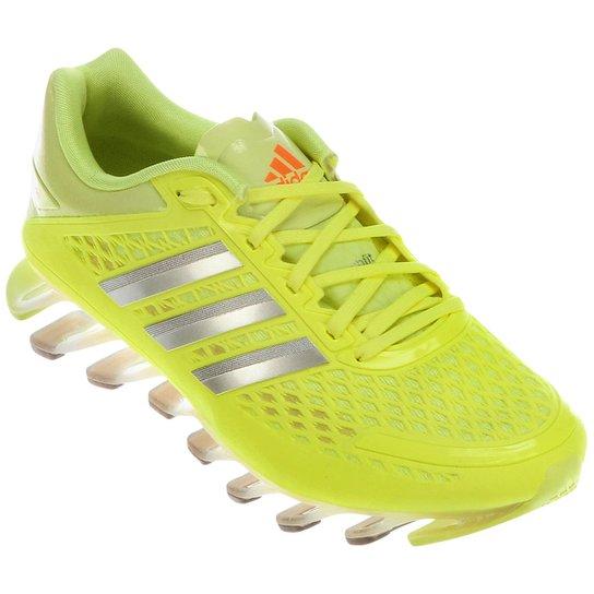 f713e0cad8 Tênis Adidas Springblade Razor - Prata+Verde Limão