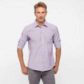 c2f64b238c Camisa BlueBay Listras Bolso Masculina