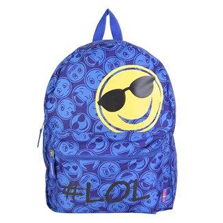 b34867737 Mochila Clio Emojis Dupla Face