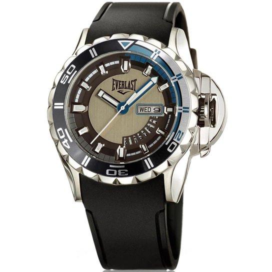 87b2cbb2024 Relógio Everlast Masculino Pulseira Silicone Analógico - Preto e ...