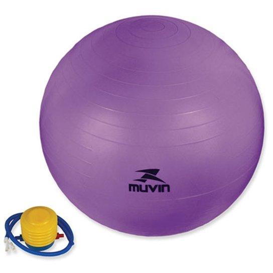 Bola Pilates Fitball Com Bomba Muvin - 65Cm - Roxa - Roxo - Compre ... f73667e0555e6