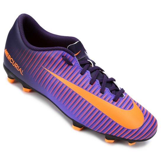 Chuteira Campo Nike Mercurial Vortex 3 FG - Roxo - Compre Agora ... 8ad3d4f5b67f5