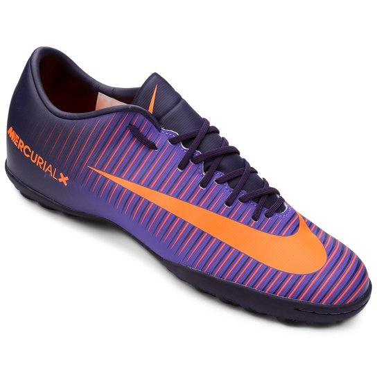 Chuteira Society Nike Mercurial Victory 6 TF Masculina - Roxo ... c346e9a65e29f