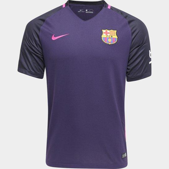 Camisa Nike Barcelona Away 16 17 s nº - Compre Agora  81f7c0cf51244