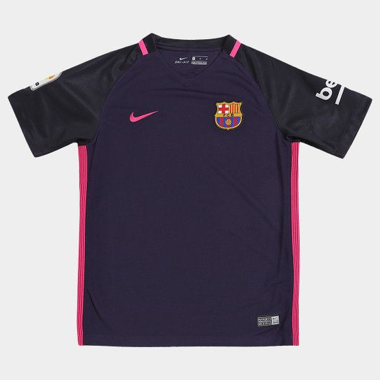 Camisa Barcelona Juvenil Away 16 17 s nº Torcedor Nike - Compre ... 3912a184242a8