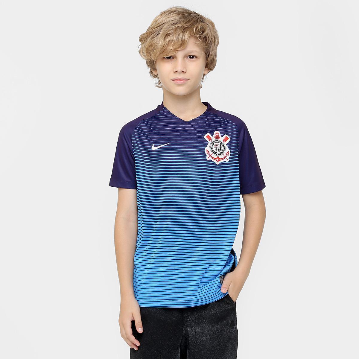 Camisa Corinthians Juvenil III 2016 s nº Torcedor Nike  123dd80879b7a