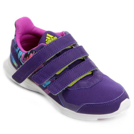 33b0fe14827 Tênis Adidas Hyperfast 2 Cf K Infantil - Roxo e Verde - Compre Agora ...
