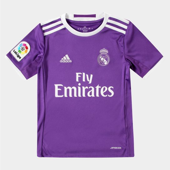 Camisa Real Madrid Infantil Away 16 17 s nº Torcedor Adidas - Compre ... 7c6f14c2eeb6f
