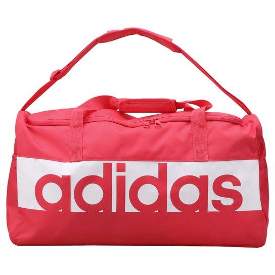 Mala Adidas Essential Linear - Salmão e Branco - Compre Agora  b007470671869