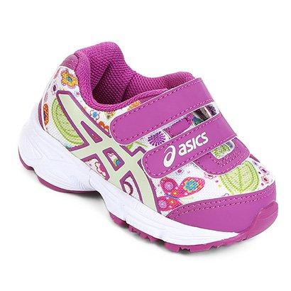 Tênis Infantil Asics Estampa Floral Velcro Sugar Baby 2 Feminino