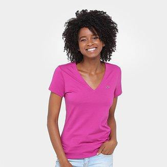 Camiseta Lacoste Bordada Feminina 776bc1362b
