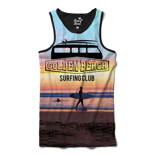 018f99a8fb Camiseta Regata Long Beach Kombi Golden Beach Sublimada Masculina - Roxo