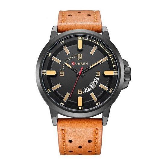 fedcf4fa19f Relógio Curren Analógico 8228 Preto e Bege - Preto e Bege - Compre ...