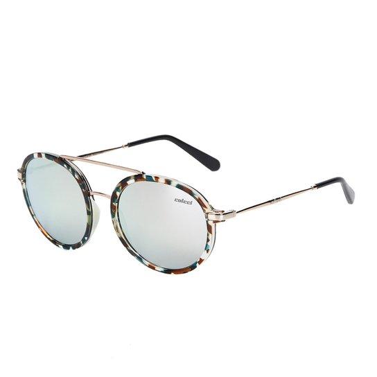 a4df0c549 Óculos de Sol Colcci Cindy C0096 Feminino - Marrom e Azul   Netshoes