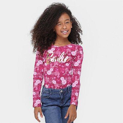 Body Fakini Barbie Floral Infantil