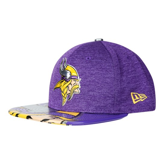 Boné New Era Minnesota Vikings Aba Reta 950 Original Fit Sn On Stage  Masculino - Roxo 8d43f8c561566