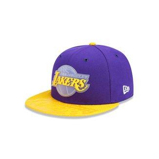 Boné 950 Los Angeles Lakers NBA Aba Reta New Era 5f6bc17f3f1