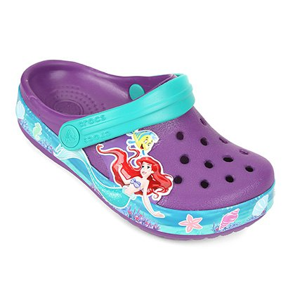 Sandália Infantil Crocs Crocban Princess Ariel Clog Feminina