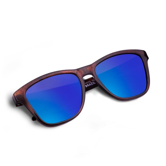 fbe429707 Óculos Suncode Natural Tortoise Brown - Marrom+Azul
